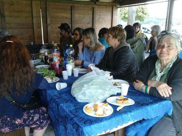 Pranzo alla Scampagnata di Primavera della Banca del Tempo Riviera delle Palme a Moresco