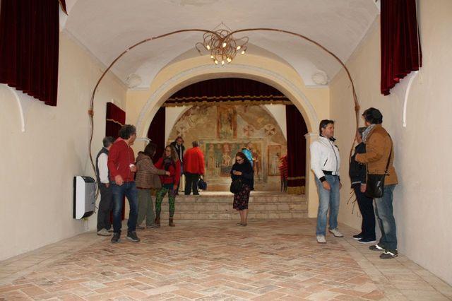 Visita al paese alla Scampagnata di Primavera della Banca del Tempo Riviera delle Palme a Moresco