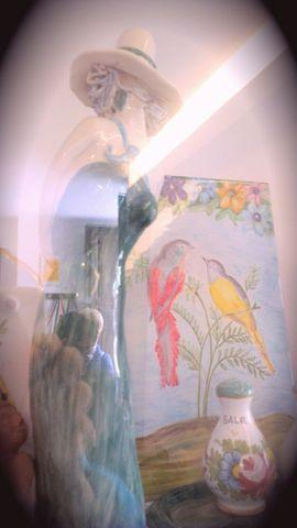 Lavori in Ceramica del Laboratorio alla Scampagnata di Primavera della Banca del Tempo Riviera delle Palme a Moresco (FM)