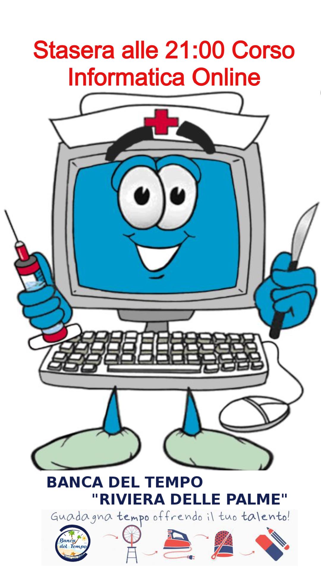 Lezione Online Informatica di Base alla Banca del Tempo Riviera delle Palme