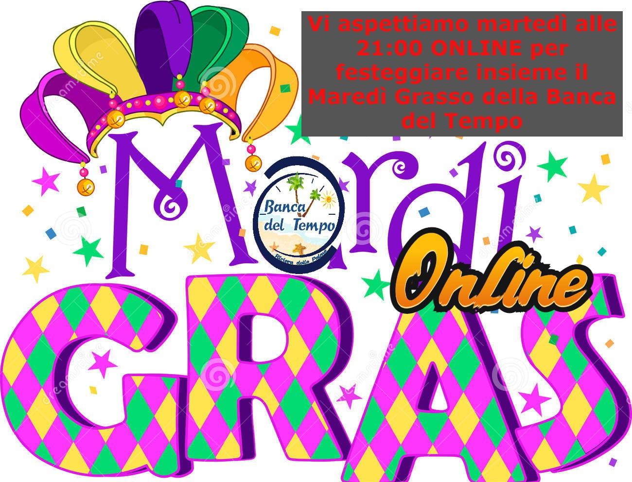 Martedi Grasso Online della Banca del Tempo Riviera delle Palme